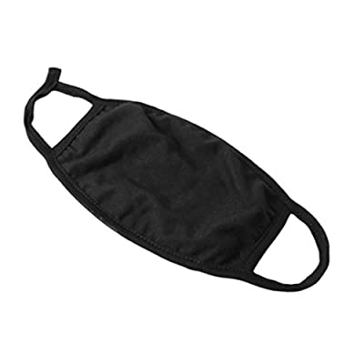 Cotton Face Mouth Mask Dustproof Facial UV Protective 3 Layers Cover Reusable Washable Black Masks for Women Men TPZA93095