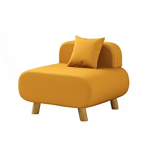 HTZ Sofa Paresseux, Chaise De Sofa De Salon, Petit Sofa Simple, Coussin De Dos De Chambre À Coucher (coton Et Toile) + (Couleur : Le jaune)