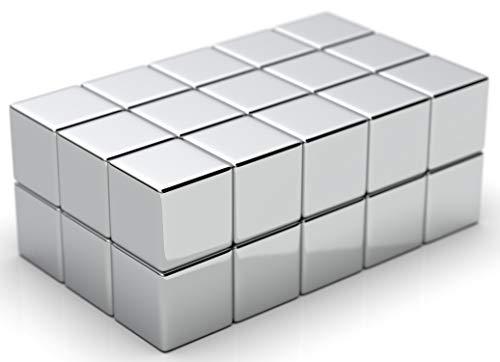 NeoMagNova 30 Stück XL starke Neodym Magnete für Glasmagnettafel, 10mm Würfel Magnete für Magnettafel, Glasboard, Magnetstärke N42