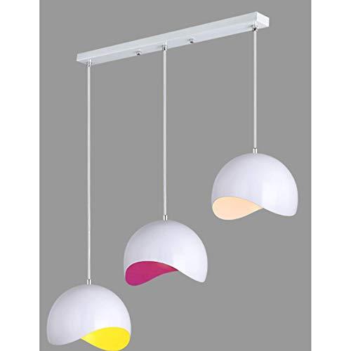 Lámpara Colgante De Techo,Lámpara De Araña Colgante Sala,Plafón De Techo Dormitorio,Lámpara De Moda Simple Moderna De Hierro Forjado Tres Cabezas Estilo B