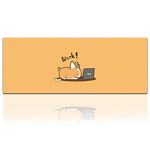 Alfombrilla de ratón de Comtuper, tamaño grande, XXL, alfombrilla de ratón, accesorios para videojuegos, portátil, teclado, juego, impermeable, 800 x 300 x 2 mm