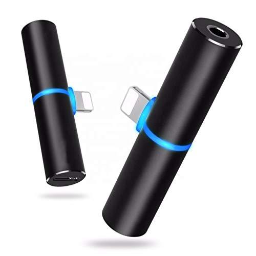 Adaptateur pour iPhone Jack 3,5mm, 2 en 1 Adaptateur de...
