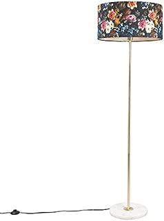 Stehlampe /'Flora/' Textil-Stehleuchte Textil Modern Wohnzimmerleuchte A++ E14