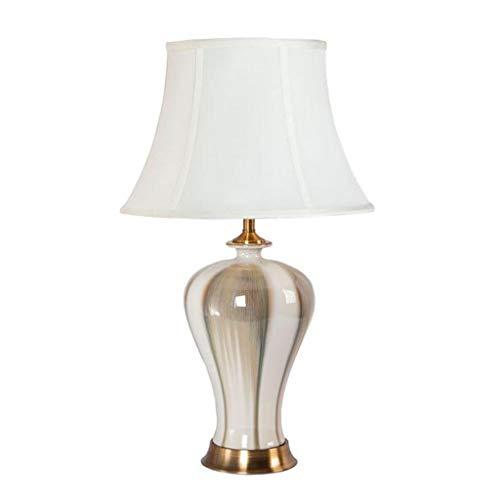 HNWNJ Lámpara de Mesa Lámpara de Mesa de cerámica Sala de Estar Dormitorio Decoración Lámpara de Mesa (Size : Small)