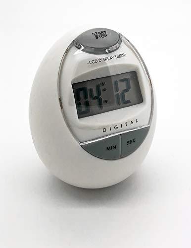 8001202 Digitaler Küchentimer Eieruhr Kurzzeitmesser in Eiform weiss im piffigen Design