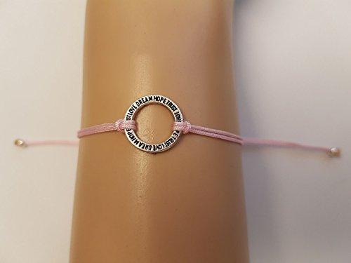 Light pink Trust Love Dream Hope bracelet