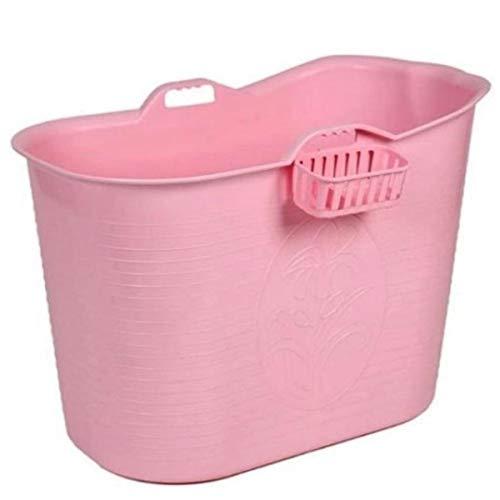 FlinQ Bath Bucket Rosa | Mobile Badewanne für Erwachsene | Ideal für kleine Badezimmer | Badewanne Erwachsene XL und Kinder | Badewanne Outdoor | Tragbare Kunststoff Badewanne für Dusche