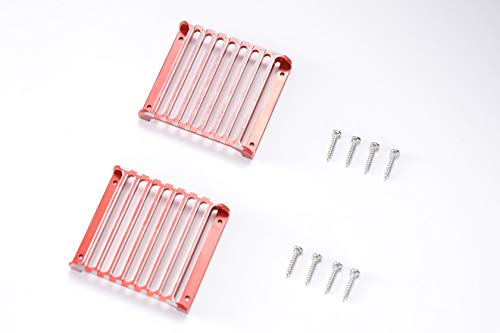 RZXYL TRX4 LED Headlight Cover Guard Grille for Traxxas TRX-4 1/10 RC Crawler Car 2Pcs (Red)