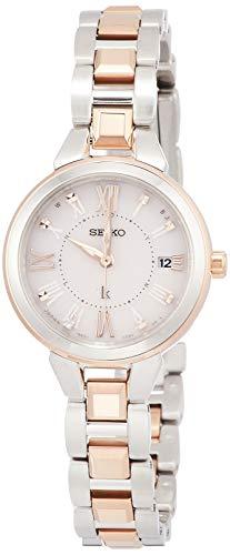 [セイコーウォッチ] 腕時計 ルキア ソーラー電波 ダイヤモンド入りピンク文字盤 プラチナダイヤシールド サファイアガラス SSVW146 レディース シルバー
