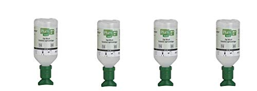 Plum 45981-2 Sterile Saline Eyewash Solution Bottle 500 mL, 8.5