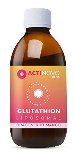 Liposomales Glutathion | hochdosiert | Antioxidation | Drachenfrucht & Mango 200ml | Tagesdosis 400 mg reduziertes Glutathion | hohe Bioverfügbarkeit | flüssig | ohne Zusätze | vegan