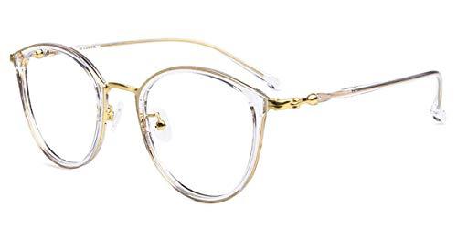 Firmoo Occhiali Luce Blu Bloccanti per il Mal di Testa il Blocco della Cefalea UV, Occhiali da Computer per Unisex (Trasparente)