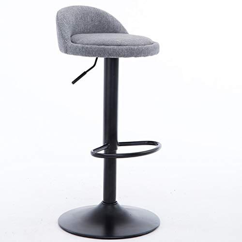 C-J-X STOOL/CHAIR C-J-Xin smeedijzeren kruk, zwart standaard kleine rugleuning barkruk kan instellen in de hoogte van de bank horeca decoratieve kruk