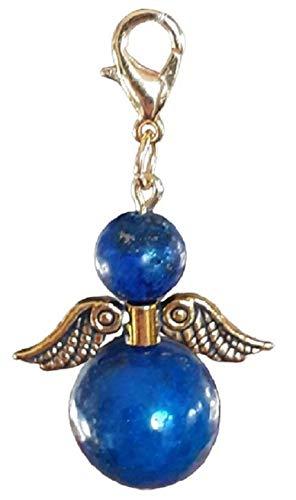 DDesign Guardian Angel Lapis Lazuli (Semi-Precious Stone, Bag Pendant, Key Ring, Lucky Angel, Lapis Lazuli)