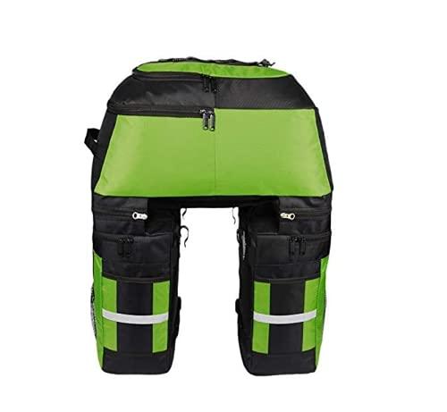 Kayboo 70L Borsa per Bicicletta Multifunzionale 3 in 1, Portapacchi Posteriore Impermeabile e Rimovibile con Copertura Anti Pioggia per Ciclismo (Verde)