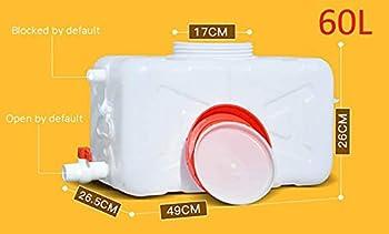 TYX-SS Bucket en Plastique De Qualité De La Batterie d'eau avec Un Goutte De Goutte De Goutte De Plein Air Durable Rectangulaire,50L