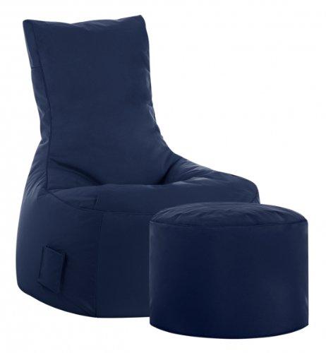SITTING POINT only by MAGMA Sitzsack-Set Scuba Swing + Hocker Jeansblau