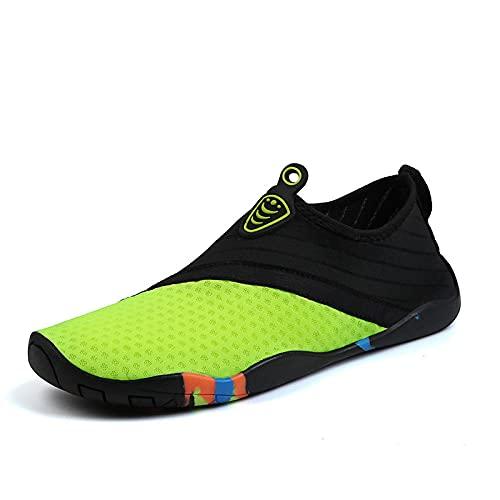 Zapatos de Piscina,Montañismo Senderismo Zapatos de Playa Hombres y Mujeres Fitness Calzado Deportivo al Aire Libre-Fluorescent Green_35#,Botas de Deportes acuáticos