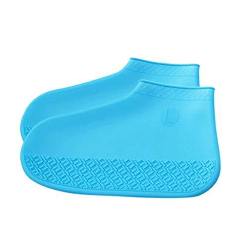Cuteelf Erwachsene Kinder Überschuh wiederverwendbare Silikon Überschuh wasserdicht Junge Mädchen wasserdicht Falten wasserdicht Schlamm leicht zu reinigen Überschuh