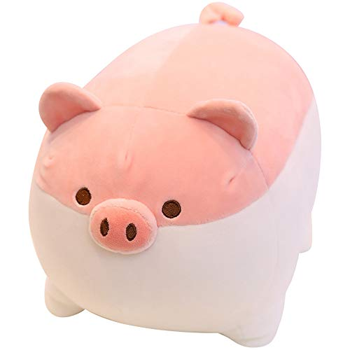 """Soft Fat Pig Plush Hugging Pillow,Cute Piggy Stuffed Animal Doll Toy Gifts for Bedding, Kids Birthday, Valentine, Christmas (Pink, 19.7"""")"""