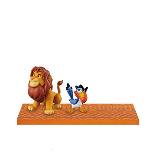 Japan Oficial Figura El Rey León Simba & Zazu 6 cm Disney Story.07 Mega World COLLECTABLE #2