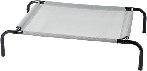 AmazonBasics - Erhöhtes Haustierbett, kühlend S, Grau