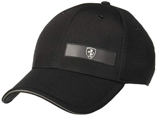 Puma - Scuderia Ferrari LS Snapback Baseball Cap, Puma Black One Size