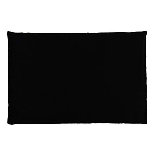 Kirschkernkissen 30 x 20 cm, schwarz - Als Wärmekissen & Kältekissen - Körnerkissen für Mikrowelle und Backofen (30x20cm)