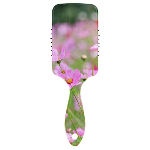 Purple Cutter Flower In Garden Air Cushion Comb Detangling Hair Brush Kids Detangle Hair Brush For Blow-drying Detangling Straighten Comb All Hair Type Best Detangler Brush For Women Kids De
