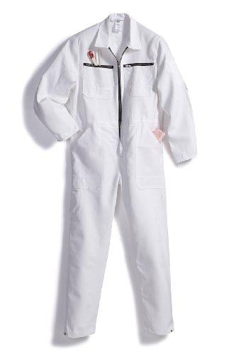 BP 1416 010 Herren Overall aus reiner Baumwolle Weiß, Größe 52-54
