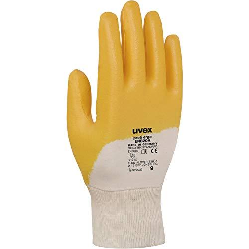 Uvex Profi Ergo ENB20A Schutzhandschuhe - 1 Paar Öl- und Fettbeständig Arbeitshandschuhe 08/M