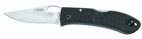Ka-Bar Dozier Folding Hunter Knife with Hole Black Clampack Slip Straight Blade