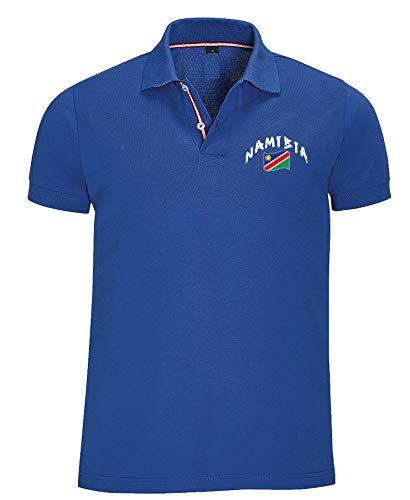 Supportershop Poloshirt Rugby Namibia, Unisex M blau