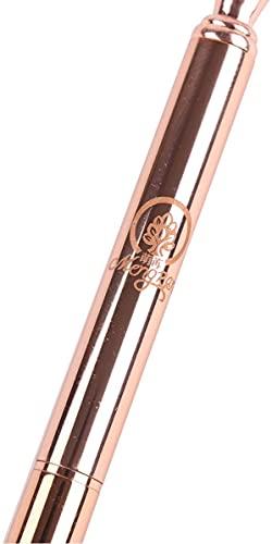 MengRan Pen + 5 Refills Rose Gold Pen with Big Diamond/Crystal -Metal Ballpoint Pen Rose Gold Office Supplies -Black Ink (rose gold) Photo #5