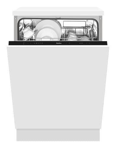 Amica Einbau-Geschirrspüler EGSPV 597 910 / vollintegriert / 60 cm breit / 5 Programme, Schwarz