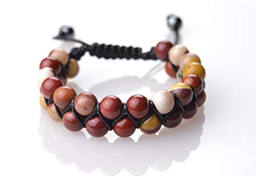 Pulseras Premium Shamballa Doble de Piedras semipreciosas Naturales para Hombre Mujer Yoga Kundalini gemoterapia 7 Chakras Reiki y meditación