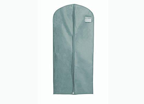 HBCOLLECTION Deluxe PP Weiß Kleidersack Kleiderhülle Schutzhülle für Brautkleid Abendkleid Hochzeitskleid 183cm Grau