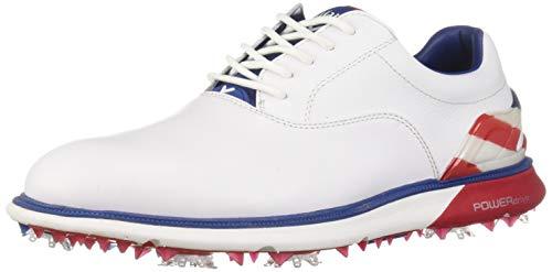 Callaway Men's LaGrange Golf Shoe, Blue/White/red, 10.5 M US
