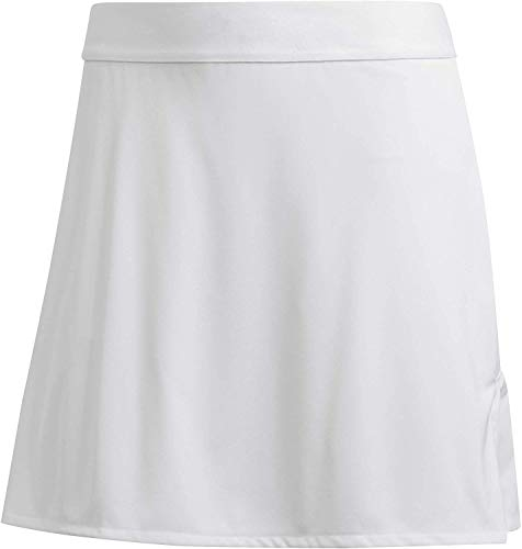 adidas Club Long Skirt Gonna Sportiva, Donna, White/Matte Silver/White, XS