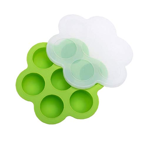 Silicone Egg Bites Molds for Instant Pot, Baby Food Storage Container and Freezer Tray with Lid Green Essentials for Newborn