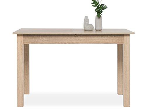 möbelando Esszimmertisch Auszugtisch Holztisch Esstisch Küchentisch Tisch Crawley II Sonoma-Eiche