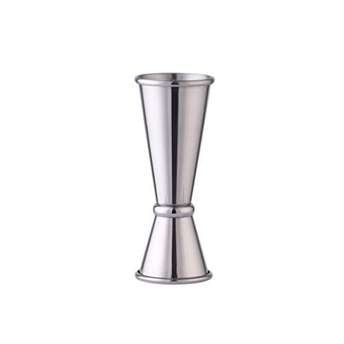 haohaiyo Jigger - Vaso medidor de acero inoxidable, 15/30 ml y 25/50 ml, doble vaso medidor para cócteles, bebidas espirituosas, vino, bar, fiesta, cócteles, cócteles
