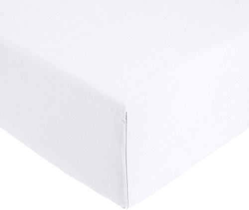 Amazon Basics AB 200TC Cotton-Light, 100% Cotone, Bianco, 180 x 200 x 30 cm