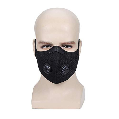 Schutzmaske, Radsportmaske, Sauerstoff-Trainingsmaske für den Außenbereich, 5 Schichten schützender Aktivkohle-Maske