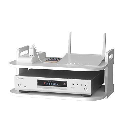 Rack Wifi Soporte de estante de montaje en la pared DVD, caja de TV-Top, soporte de reproductor de DVD, Montaje en pared Cajas de enrutador de WiFi inalámbrico de Montaje en pared, soporte de teléfono