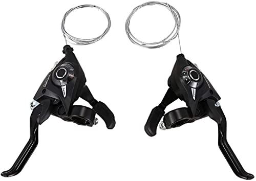 Jcevium Juego de 2 palancas de cambio de bicicleta EF51-7 3X7 21 velocidades para bicicleta derecha