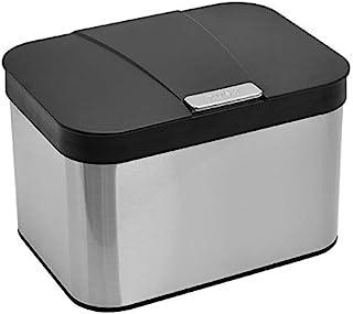 VIDL Stainless Steel Compost Kitchen Counter Bin (1.13 gallon/4.3 liter)