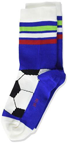 FALKE Kinder Socken Soccer, Baumwollmischung, 1 Paar, Blau (Cobalt Blue 6054), Größe: 27-30