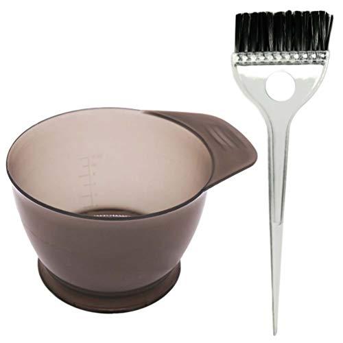 HEALLILY 2Pcs Bol de Teinture pour Les Cheveux Et Ensemble de Pinceau Kit de Teinture Des Cheveux Bols de Mélange de Couleur de Cheveux Outils de Coiffure pour Salon