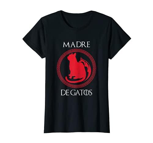 Mujer Madre De Gatos Gatito Divertido Mamá Amante De Los Animales Camiseta